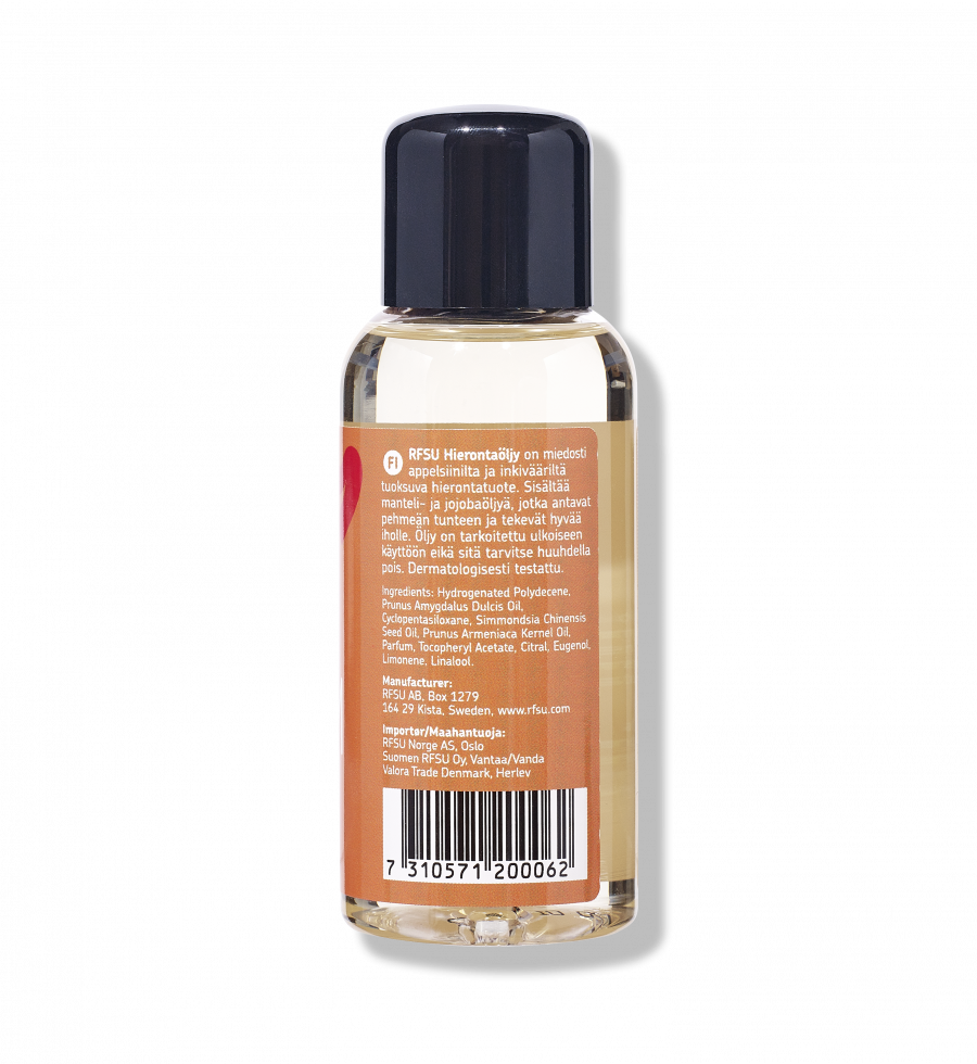 Produktinformation for Calm Massage Oil fra RFSU