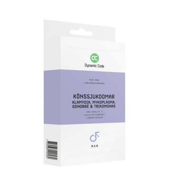 Test Kjønnssykdommer x4 MANN - Tester de 4 vanligste kjønnssykdommene - Dynamic Code