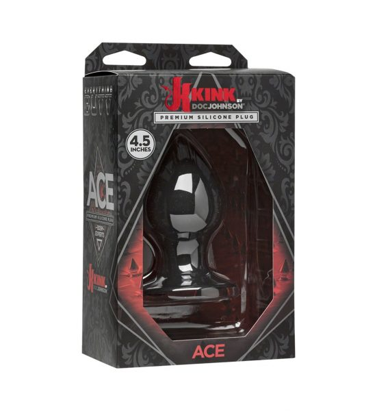 Ace Plug 11 cm - Myk analplugg i lekkert, svart design - Doc Johnson