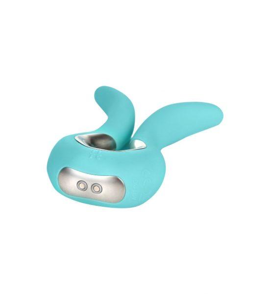G-vibe Mini, Aqua - Mindre splittet vibrator i stilrent design - FT London
