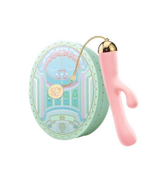 Ichigo Rabbitvibrator med app, rosa - Sukkersøt kaninvibrator med gulldetaljer - ZALO