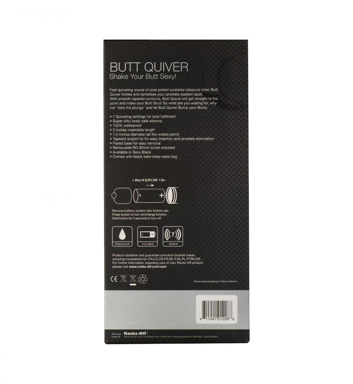 Butt Quiver 7 Speed - Veldreid vibrerende analplugg - Rocks-Off