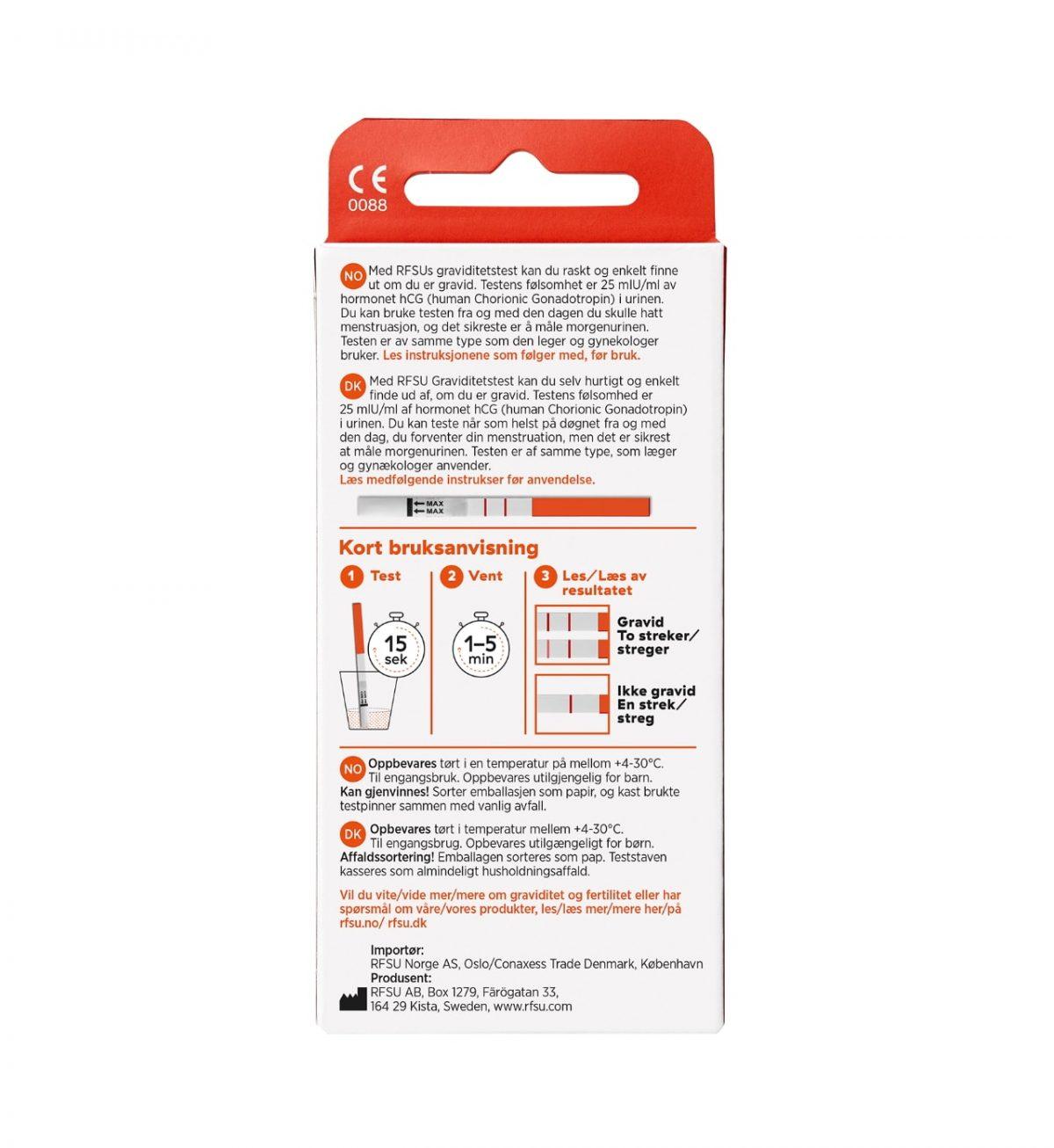 rfsu graviditesttest teste ofte 8 pack