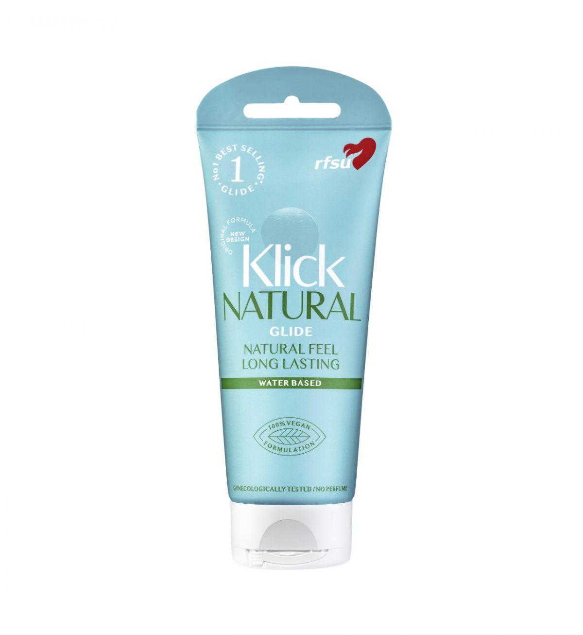 Klick Natural Glide 100ml - Glidemiddel for en naturlig følelse. - RFSU