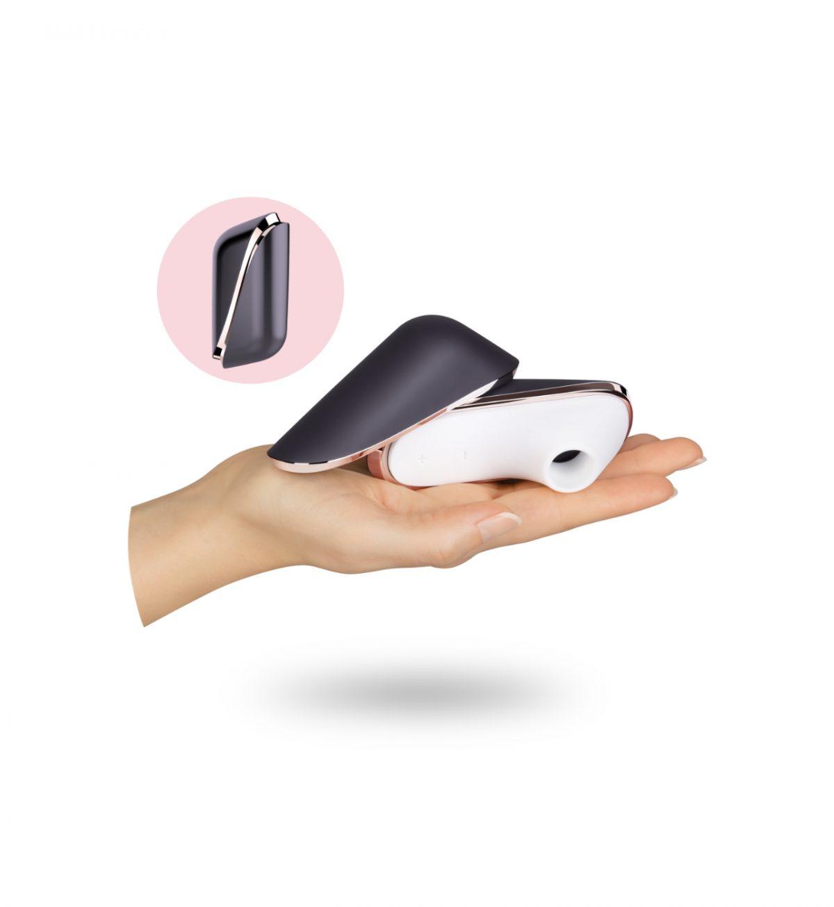 Pro Traveler - Klitorisstimulator med pulserende trykkbølger - Satisfyer