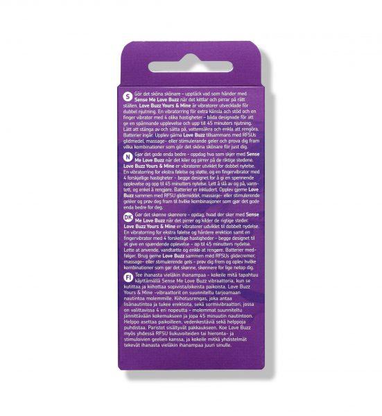 Love Buzz Yours & Mine - Fingervibrator og vibratorring for utvendig stimulering - RFSU
