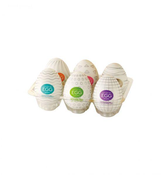 Egg Assorti 6 colors - Masturbasjonsredskap i 6 ulike farger - Tenga