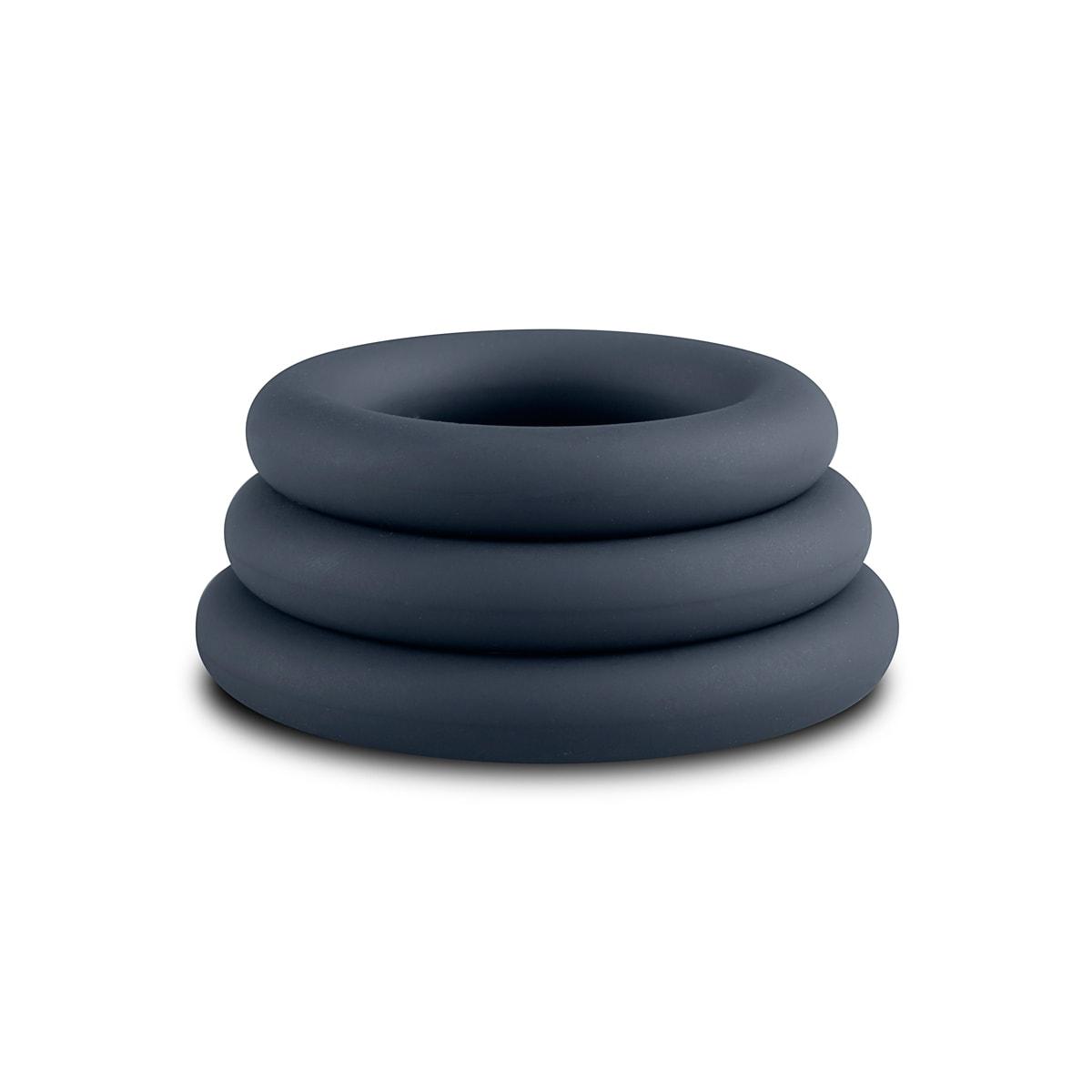 Cock Ring Sett – grå - Penisringer av høy kvalitet i tre størrelser - Boners