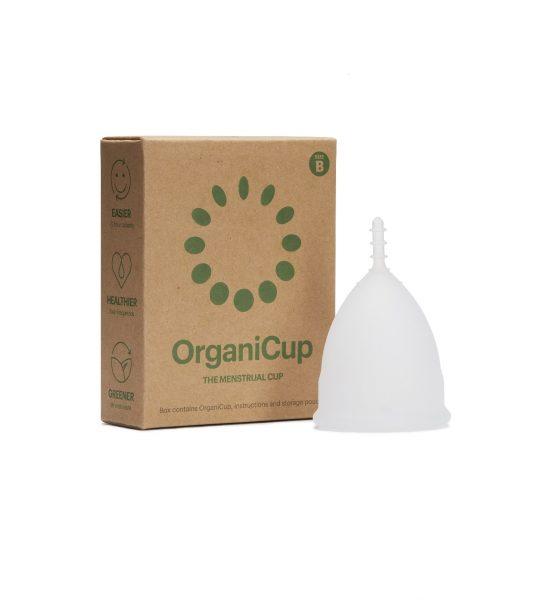Menskopp str B - Miljøvennlig menskopp i medisinsk silikon for kraftig mens - OrganiCup