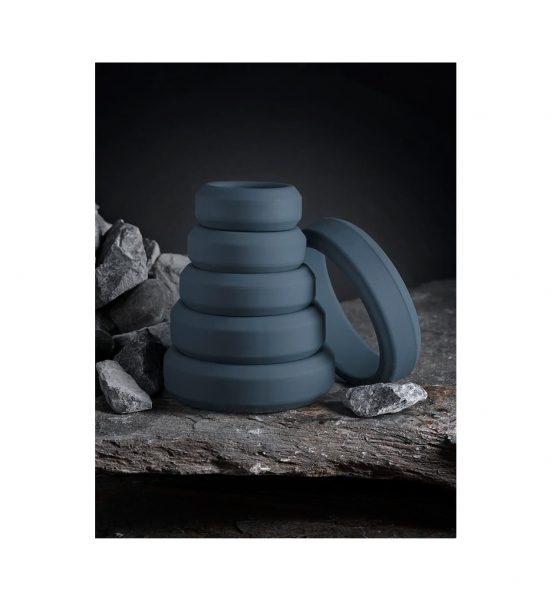 6-Piece Cock Ring Set - Klassisk penisring i silikon - Boners