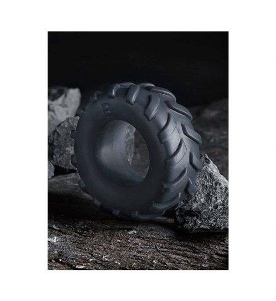 Tire Cock Ring – Grey - Dekkformet penisring i behagelig silikonmateriale - Boners