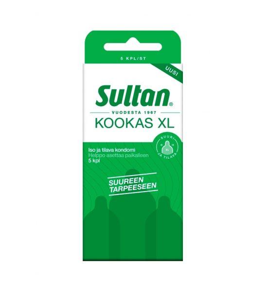 Kookas XL 5 stk - Finlands største kondom for en romsligere følelse og passform - Sultan