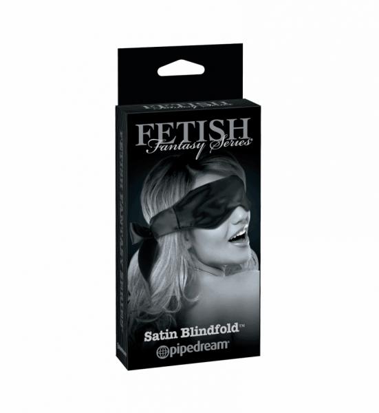 Satin Blindfold – Svart - Silkeglatt øyemaske for intime leker - Pipedream