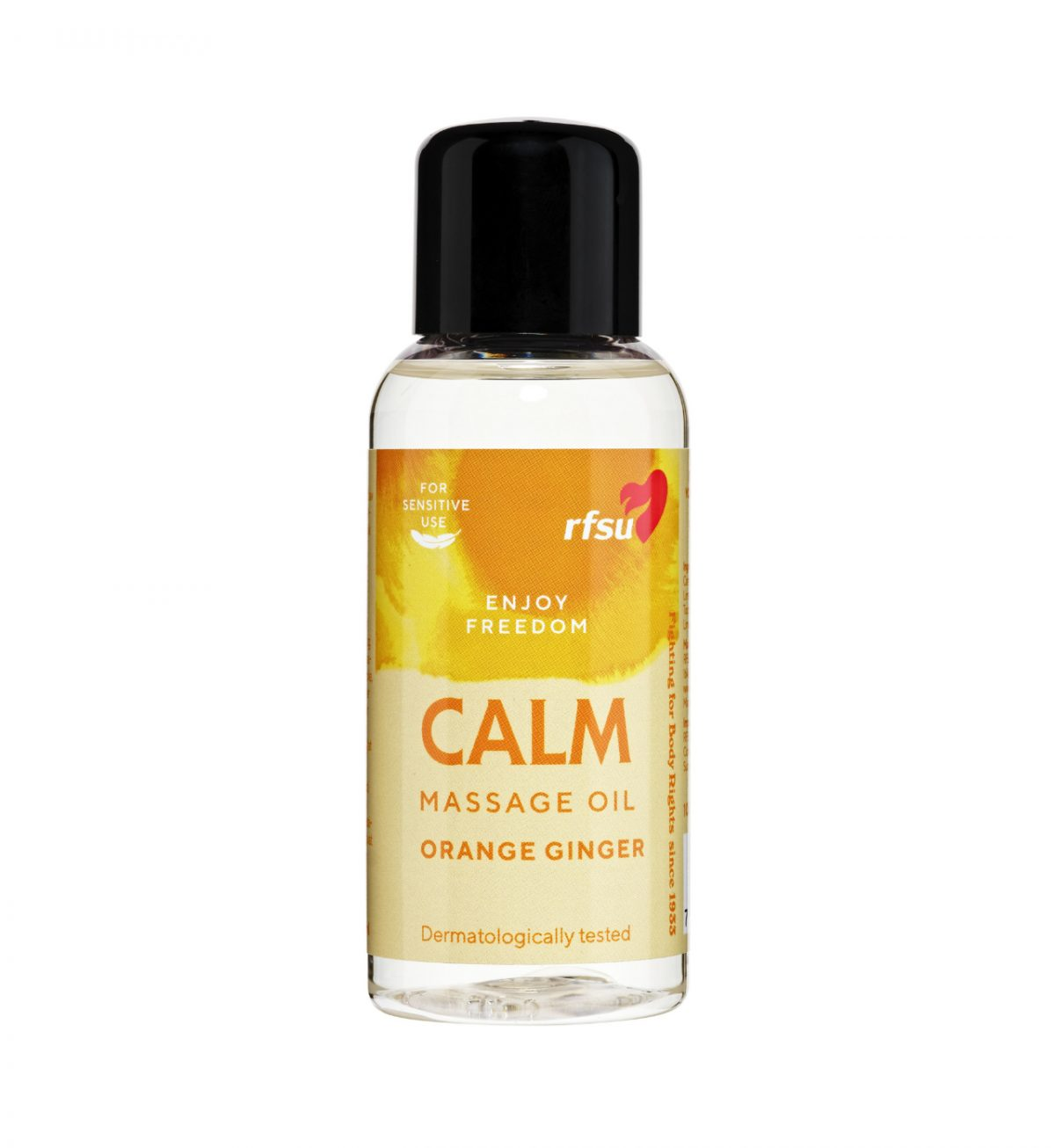 Massasjeolje Calm 100ml - Massasjeolje med duft av appelsin og ingefær - RFSU