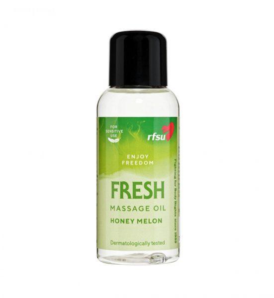 Massasjeolje Fresh 100ml - Massasjeolje med frisk duft av honningmelon - RFSU