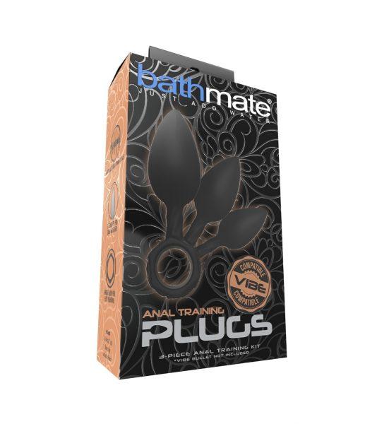 Anal Training Plugs – Svart - Tre analplugger i ulike størrelser - Bathmate