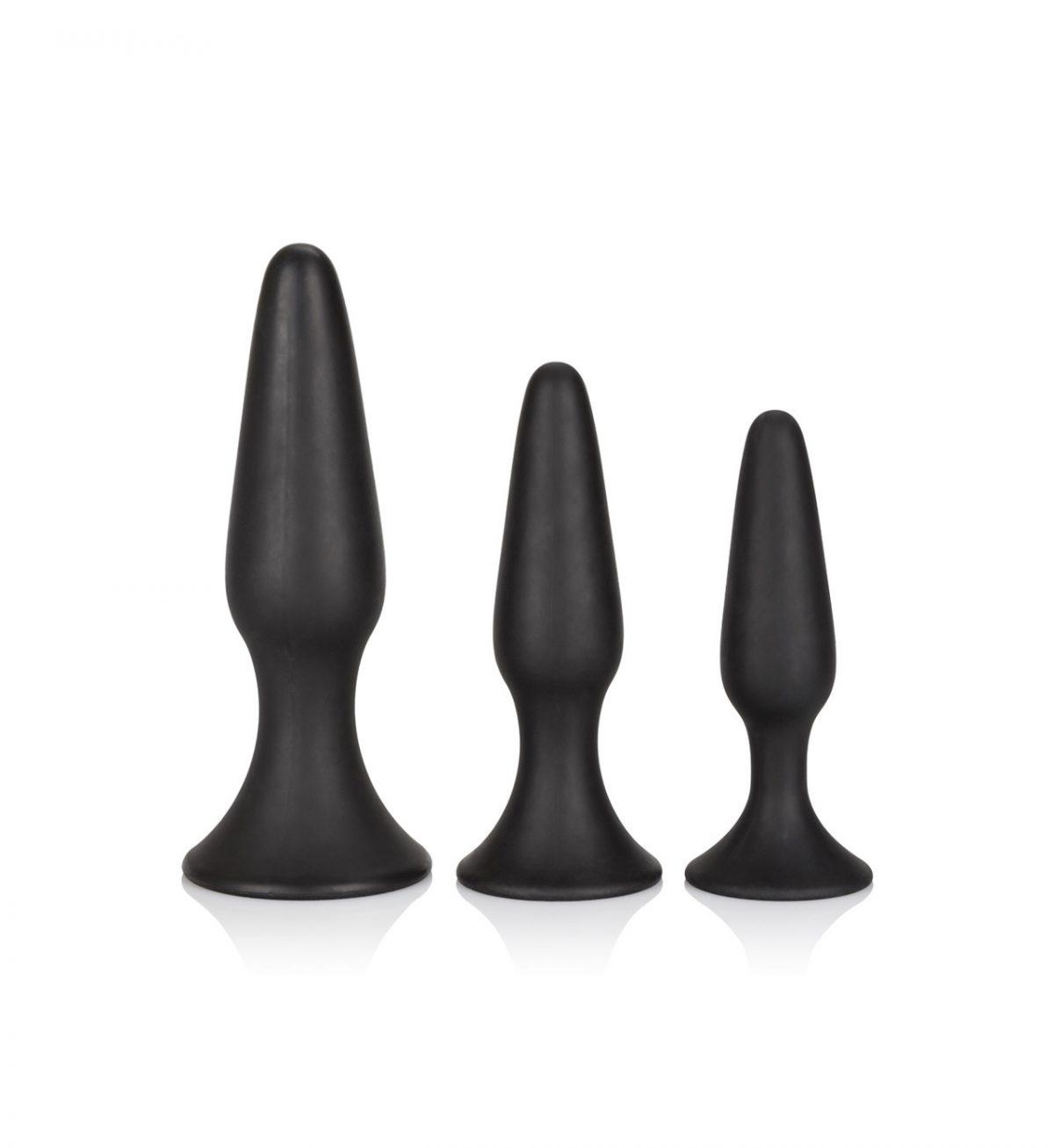 Silicone Anal Trainer Kit - Analplugger i tre forskjellige størrelser - CalExotics