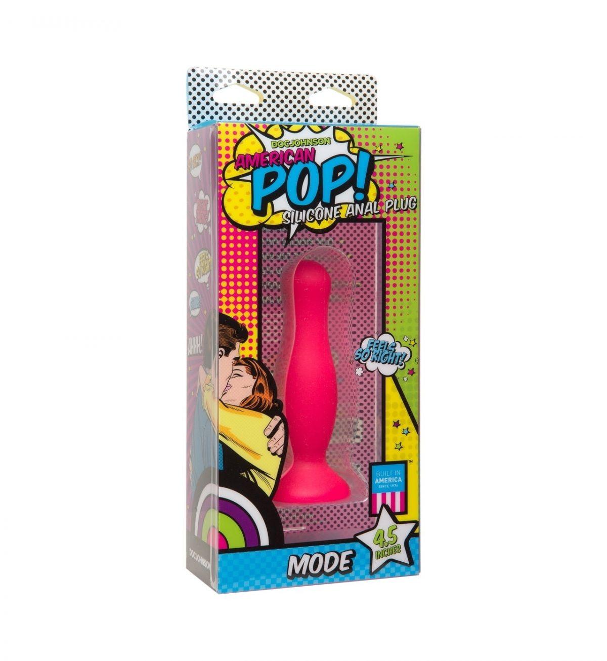 Mode Anal Plug 11 cm – Rosa - Rosa smal analplugg - Doc Johnson