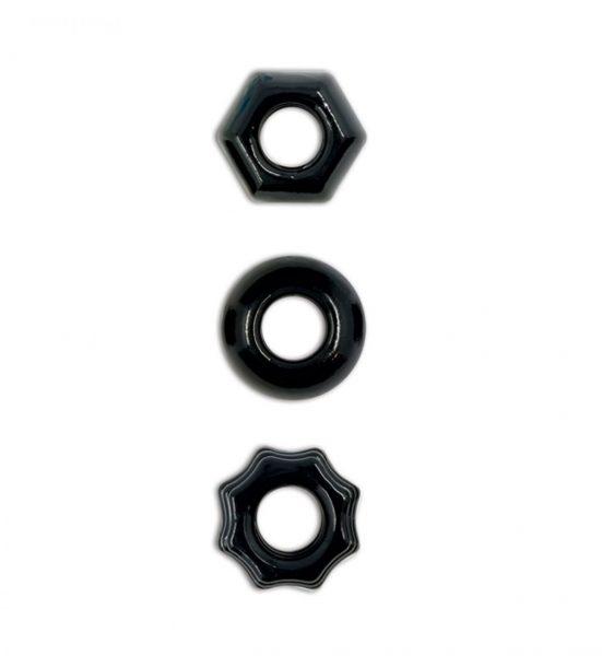 Renegade Chubbies - Sett med tre elastiske penisringer - NS Novelties