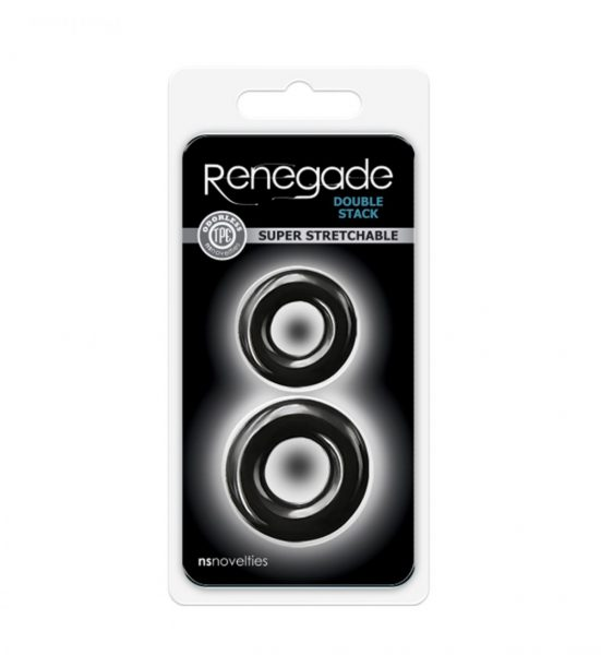 Renegade Double Stack - Sett med to penisringer - NS Novelties