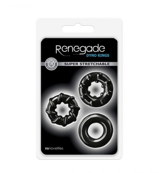 Renegade Dyno Rings - Myke og elastiske penisringer - NS Novelties