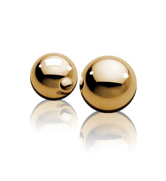 Ben-Wa Balls Metall, Guld - Gullfargede knipekuler - Pipedream
