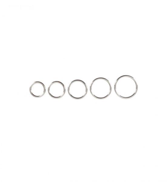 Bad Kitty Set of 5 Metal Rings - Pakke med fem penisringer -