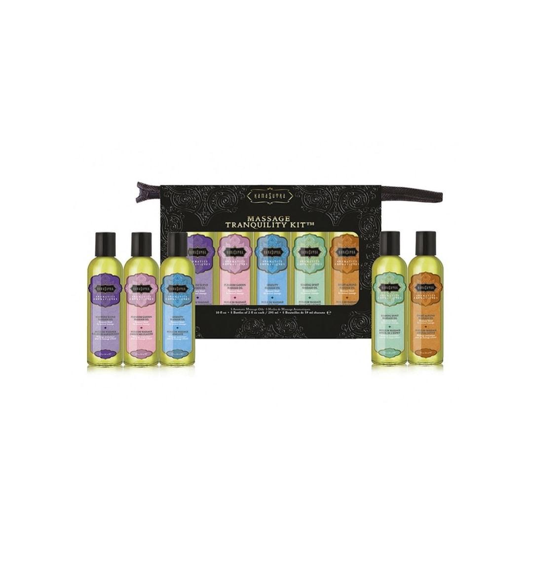 Massage Tranquility Kit - Sett med fem massasjeoljer - Kama Sutra