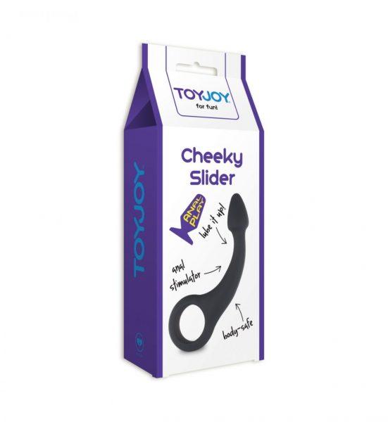ToyJoy Cheeky Slider - Bøyd analplugg for ekstra stimulering - Toyjoy