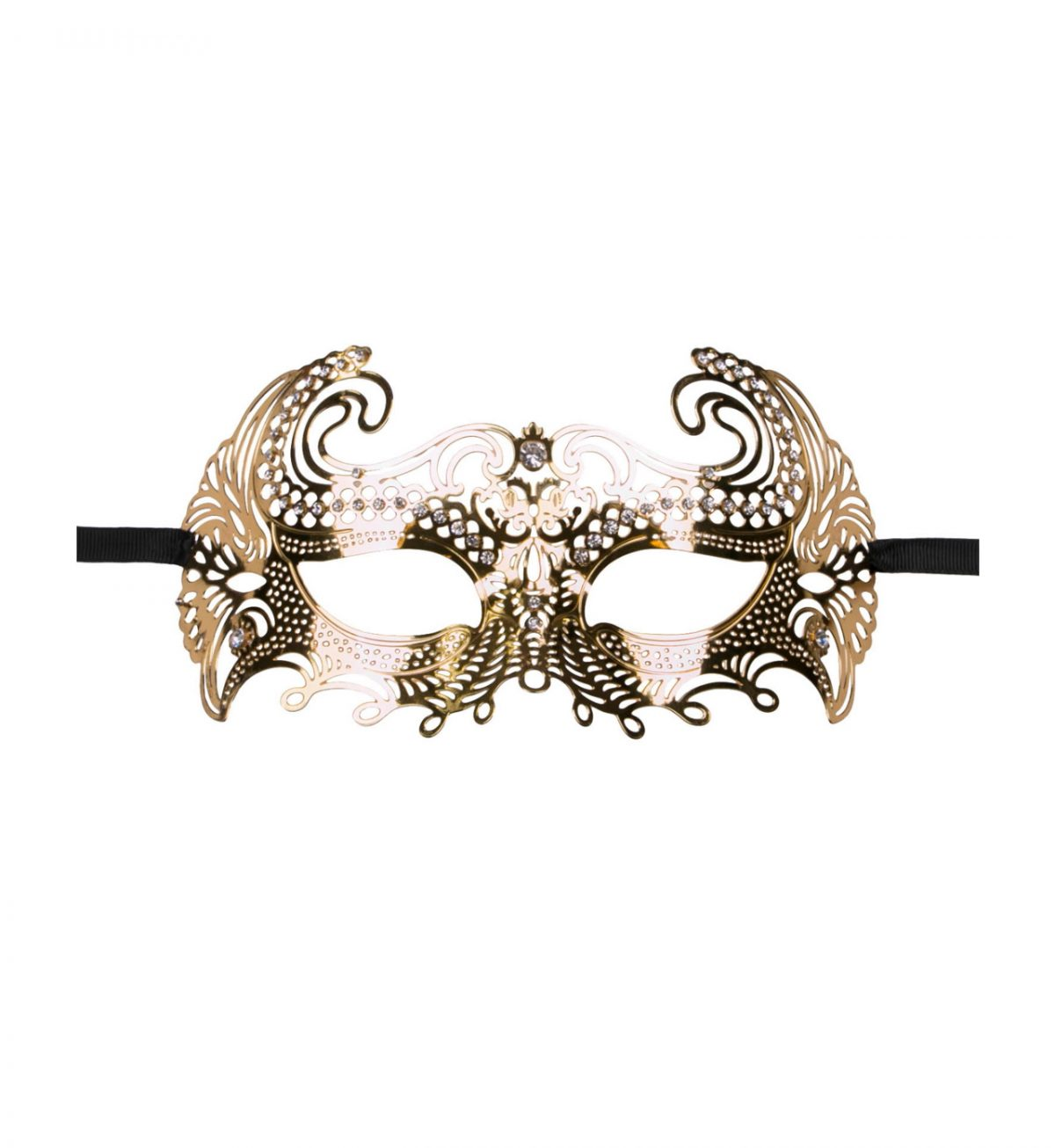 Metal Mask Venetian – Gull - vakker utkledningsmaske i metall - Easytoys