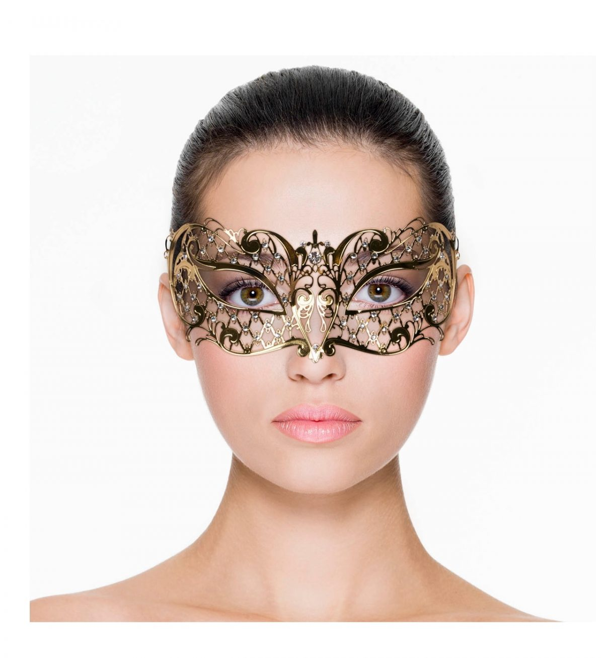 Metal Mask Lace – Gull - Elegant ansiktsmaske - Easytoys