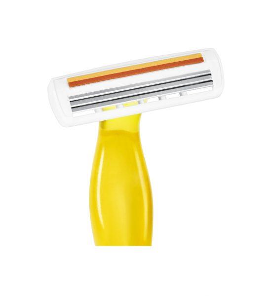 Miss Soleil Lady, 4stk - 4 barberingshøvler i gyldne farger - BIC