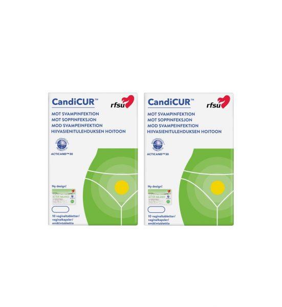 CandiCUR 2 stk - unik vaginaltablett i 2-pakk - RFSU