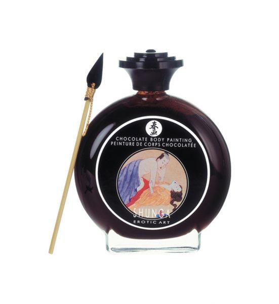 Chocolate Bodypainting - SENSUELL KROPPSMALING AV SJOKOLADE - Shunga