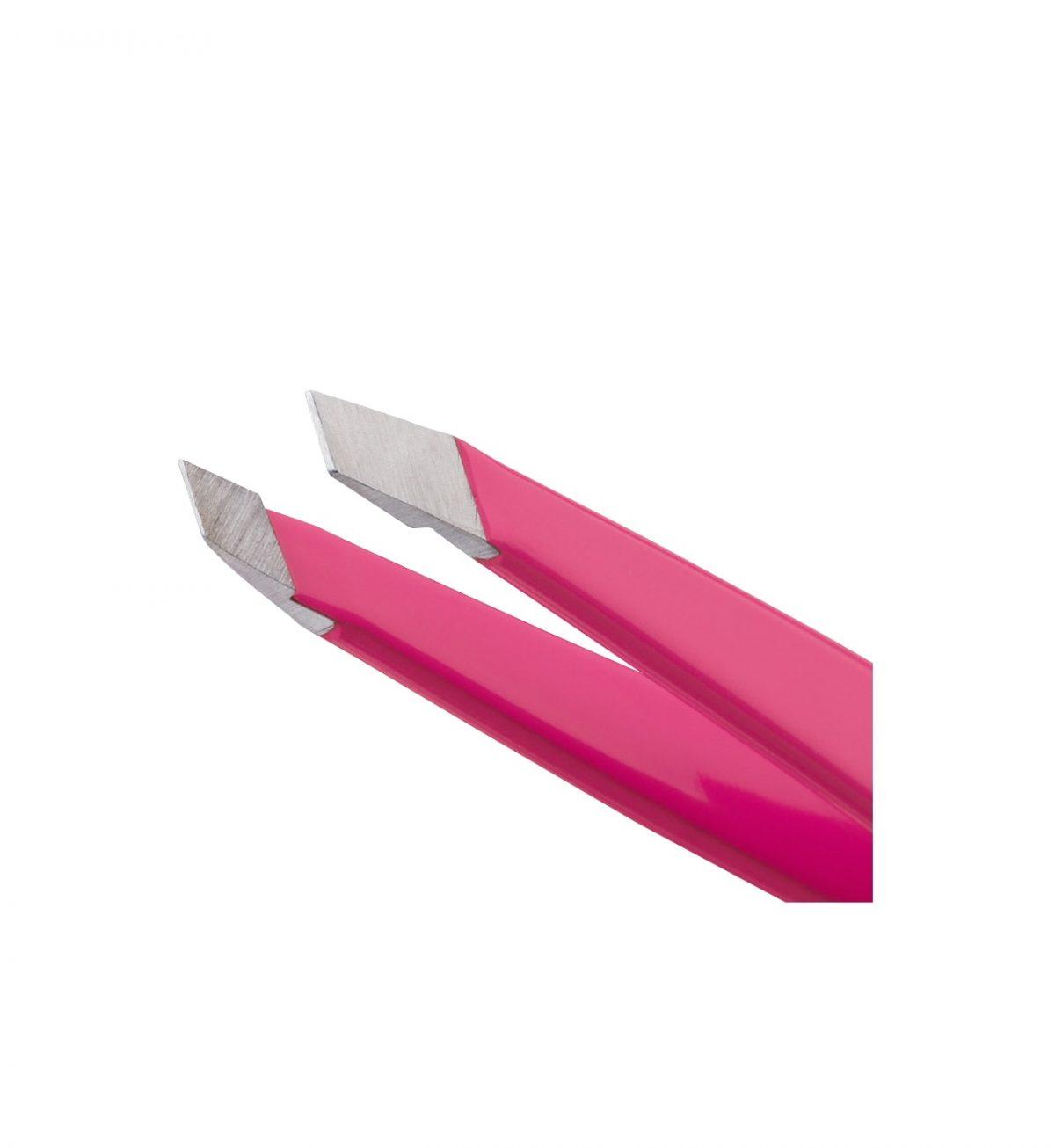 Mini Slant Tweezer, Neon Rosa - POPULÆR PINSETT I REISESTØRRELSE - Tweezerman