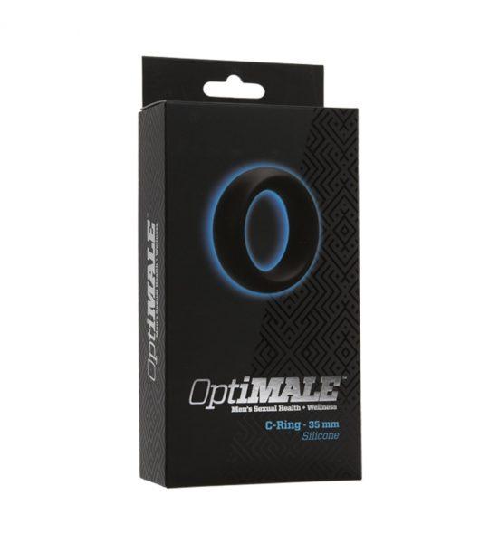 Penisring  35mm – Svart - Penisring i mykt silikon - OptiMALE
