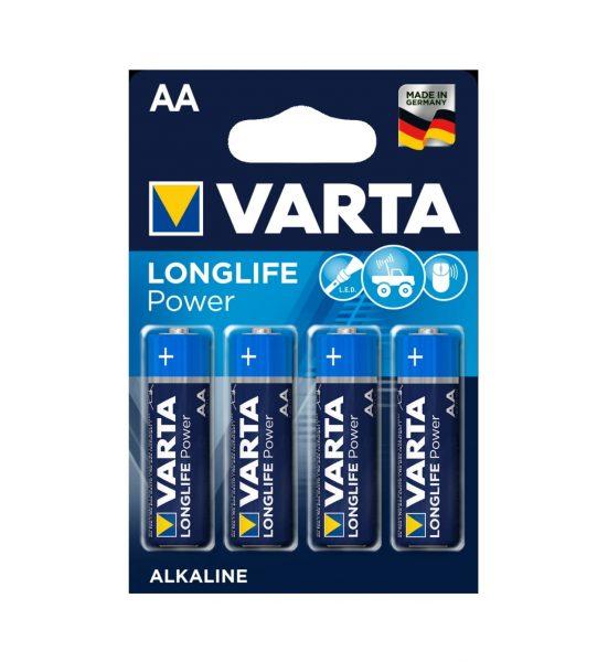 AA Batterier, 4stk - 4 stk. kraftige batterier AA - Varta