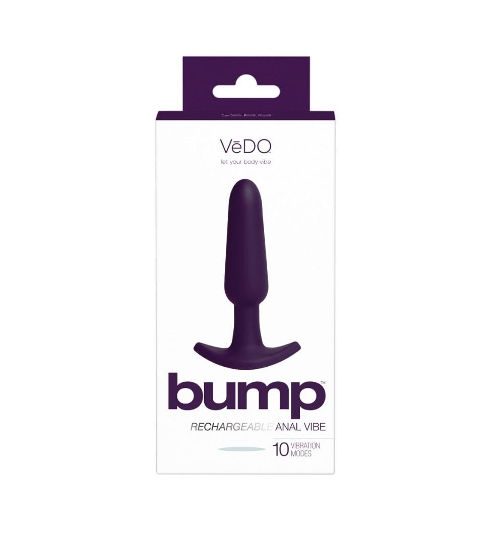 Bump Lilla - Analplugg med vibrasjon i lilla silikon - VeDO