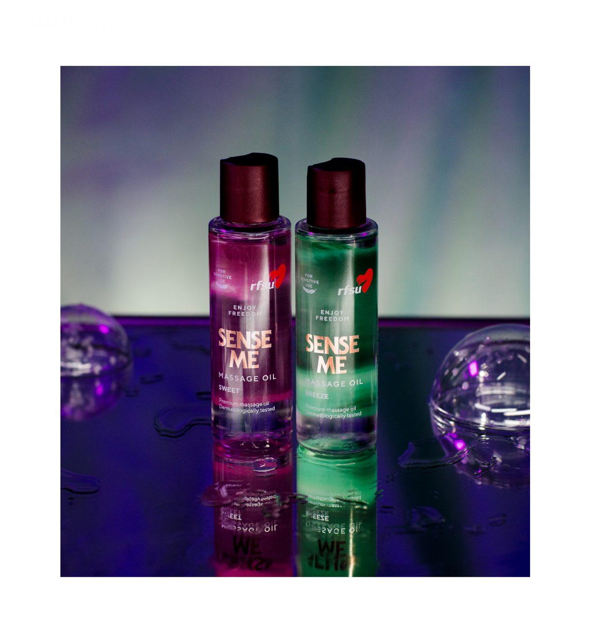 Sense Me Breeze Massage Oil 100ml - Luksuriøs massasjeolje med duft av frisk grapefrukt - RFSU