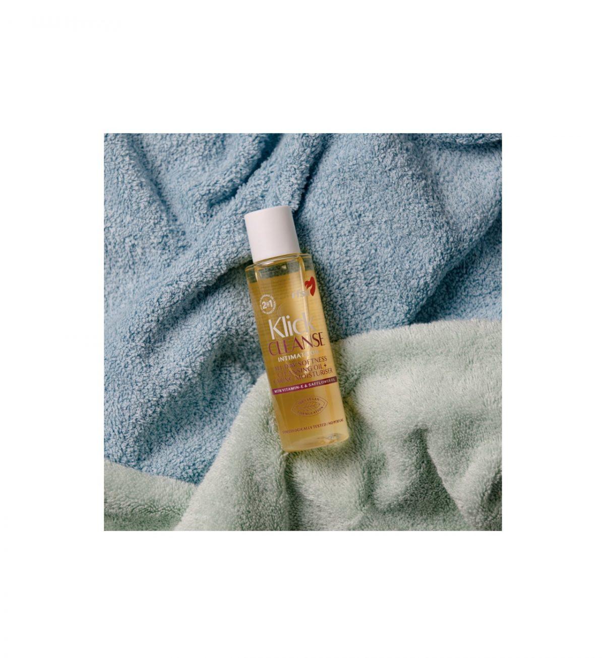 Klick Cleanse Intimate Oil 100 ml - Intimvask + pleiende olje i samme produkt - RFSU
