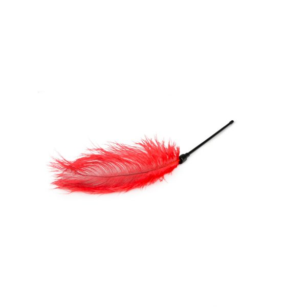 Fjær Tickler, Rød - Fjørkiler med langt skaft - EasyToys