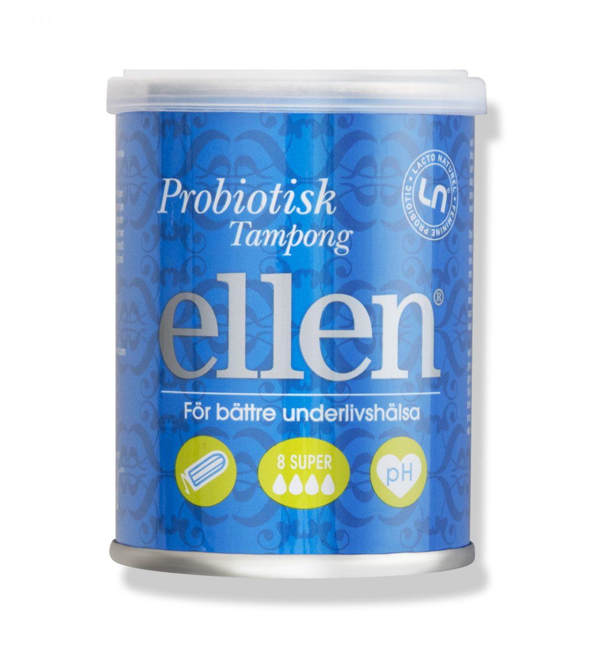 Probiotisk Tampong Super L - Tampong for rikelig blødning - Ellen