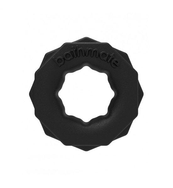 Power Ring Spartan, Svart - Penisring i ekstra mykt materiale - Bathmate