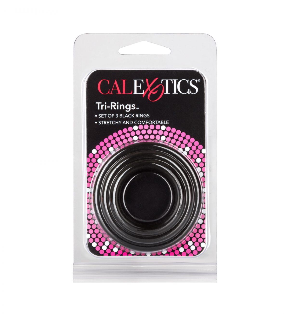 Silicon Ring – 3 Piece Set, Black - Myke penisringer i silikon - CalExotics