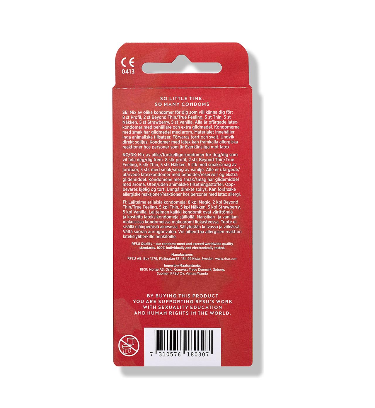 mixed kondomer 30 pack rfsu