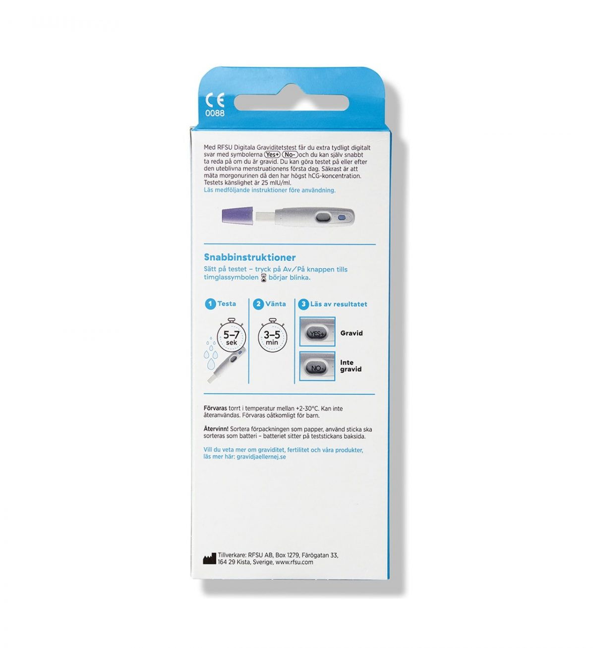 digitalt graviditetstest 1p rfsu