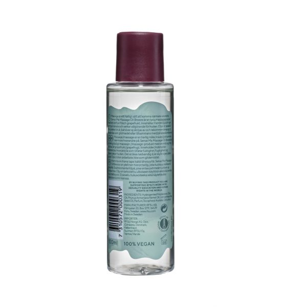 Sense Me Breeze Massageolja, 100ml - Lyxig massageolja av frisk grapefrukt - RFSU